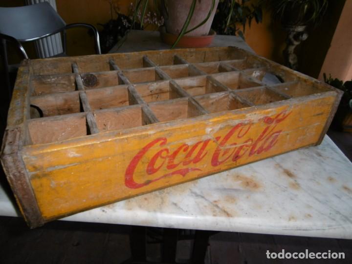 Coleccionismo de Coca-Cola y Pepsi: ANTIGUA CAJA AMARILLA ORIGINAL COCA-COLA DE MADERA. - Foto 2 - 169056660