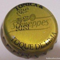 Coleccionismo de Coca-Cola y Pepsi: CHAPA REFRESCO SCHWEPPES TONICA & TOQUE DE LIMA -SPAIN- KRONKORKEN TAPPI FABRICANTE -CP-. Lote 169228536