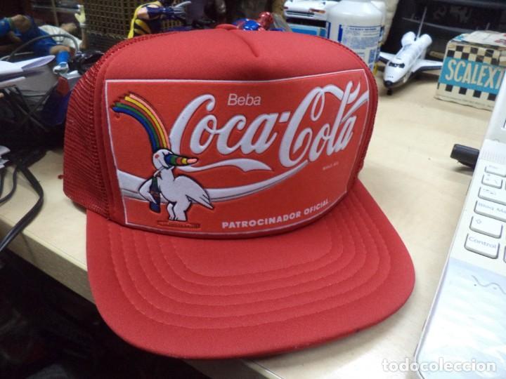 GORRA CURRO, COCA COLA, EXPO 92.OFICIAL.AÑO 1986. (Coleccionismo - Botellas y Bebidas - Coca-Cola y Pepsi)