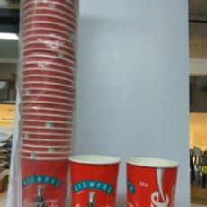 Coleccionismo de Coca-Cola y Pepsi: VASO COCA-COLA PAPEL 50 UNIDADES. Lote 169721180