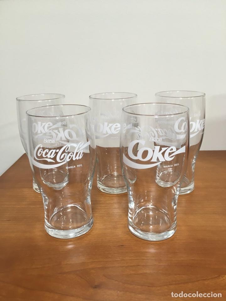 LOTE DE 5 VASOS COCA COLA DE CRISTAL SIN USAR (Coleccionismo - Botellas y Bebidas - Coca-Cola y Pepsi)