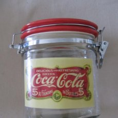Coleccionismo de Coca-Cola y Pepsi: TARRO CRISTAL COCA COLA . Lote 170113376