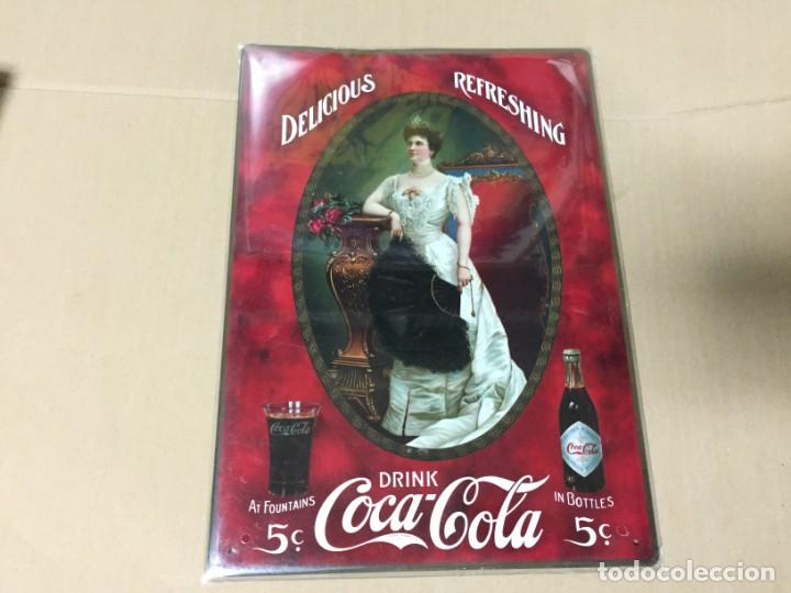 CHAPA METALICA COCA COLA. COLECCION CARTELES METALICOS 35 X 25 CM (Coleccionismo - Botellas y Bebidas - Coca-Cola y Pepsi)