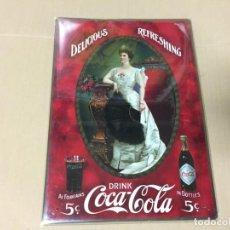 Coleccionismo de Coca-Cola y Pepsi: CHAPA METALICA COCA COLA. COLECCION CARTELES METALICOS 35 X 25 CM. Lote 170162700