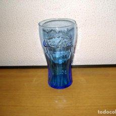 Coleccionismo de Coca-Cola y Pepsi: COCA-COLA VASO COLOR AZUL. BOCA NORMAL. 14 CM ALTO X 9 CM DIÁMETRO. Lote 170269360