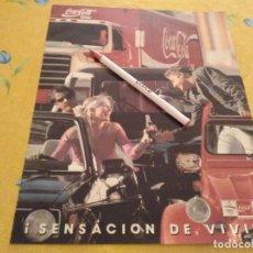 Coleccionismo de Coca-Cola y Pepsi: ANTIGUO ANUNCIO PUBLICIDAD REVISTA COCA COLA BARCELONA EXPO 92 ESPECIAL PARA ENMARCAR. Lote 170288456