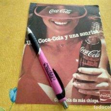 Coleccionismo de Coca-Cola y Pepsi: ANTIGUO DOBLE ANUNCIO PUBLICIDAD COCA COLA TRASERA AFEITADORA BRAUN AFTER SHAVE WILLIAMS ELECTRIC. Lote 170937635