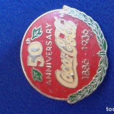 Coleccionismo de Coca-Cola y Pepsi: PIN COCA-COLA ANIVERSARIO. Lote 171435458