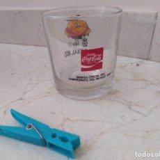 Collezionismo di Coca-Cola e Pepsi: ANTIGUO VASO GRANDE DE COCA COLA MUNDIAL 82 NARANJITO ESPAÑA. Lote 171817883