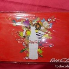 Coleccionismo de Coca-Cola y Pepsi: CAJA PUBLICIDAD COCA COLA DE METAL CON LÁPICES DE COLORES PRECINTADA. NUEVA. Lote 172032972