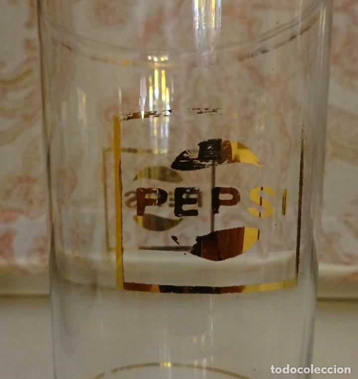 Coleccionismo de Coca-Cola y Pepsi: DOS VASOS LARGOS CON PUBLICIDAD PEPSI PEPSICOLA DRINK PEPSI COLA. ALTURA 16,5 Y 14,5 CM - Foto 2 - 172065092