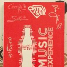 Coleccionismo de Coca-Cola y Pepsi: AGENDA LIBRETA COCA-COLA.PROMOCIÓN XUXO JONES, VIAJE DE ELLIOT, CRITIKA & SAIK Y LUCIA GIL. ORIGINAL. Lote 295479373