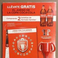 Coleccionismo de Coca-Cola y Pepsi: EL JUEGO DE LA COPA COCA-COLA (COCACOLA). COPA COLOR ROJO. ORIGINAL! NUEVO!!. Lote 172570972