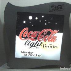 Coleccionismo de Coca-Cola y Pepsi: GRAN CARTEL LUMINOSO - COCA-COLA LIGHT - ACERO ¡¡FUNCIONANDO¡¡ CON LUZ COKE COCACOLA . Lote 172679688