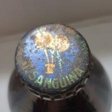Coleccionismo de Coca-Cola y Pepsi: CHAPA T.SANGUINA FONDO AZUL CON BOTELLA SIN ABRIR. Lote 172903630