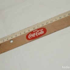 Coleccionismo de Coca-Cola y Pepsi: ANTIGUA REGLA DE MADERA - PUBLICIDAD BEBA COCACOLA - 20 CM - PRECIOSA - HAZME OFERTA. Lote 173231735