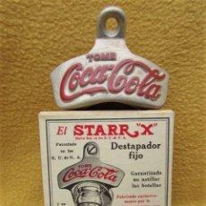 Coleccionismo de Coca-Cola y Pepsi: COCA COLA ABRIDOR DESTAPADOR FIJO EL STARR X COCA COLA AÑOS 30. Lote 266171798