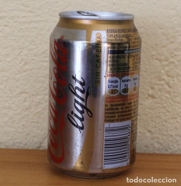 Coleccionismo de Coca-Cola y Pepsi: LATA COCA-COLA LIGHT SIN CAFEINA. CAN COKE BOTE - Foto 2 - 174038543
