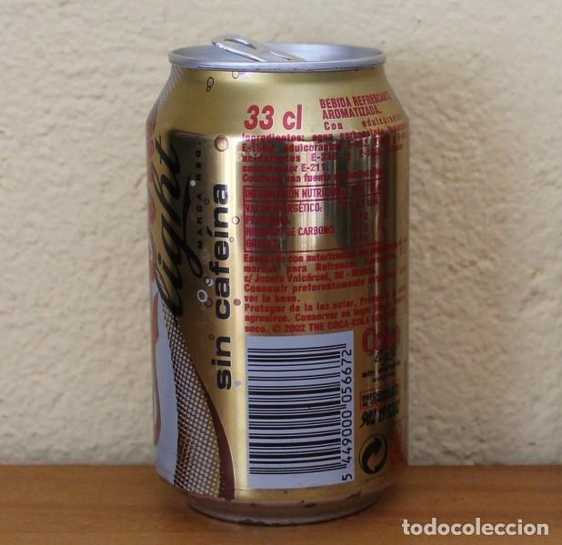 Coleccionismo de Coca-Cola y Pepsi: LATA COCA-COLA LIGHT SIN CAFEINA. CAN COKE BOTE - Foto 2 - 174038590