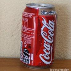 Coleccionismo de Coca-Cola y Pepsi: LATA COCA-COLA SIN CAFEINA. CAN COKE BOTE UNETE. Lote 174038954