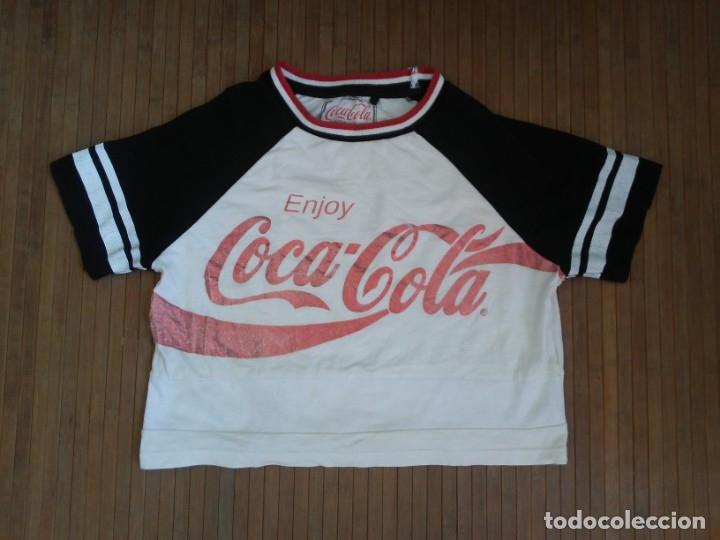 CAMISETA ENJOY COCA COLA LOGO BRILLANTE GLITTER T-SHIRT COCACOLA (Coleccionismo - Botellas y Bebidas - Coca-Cola y Pepsi)