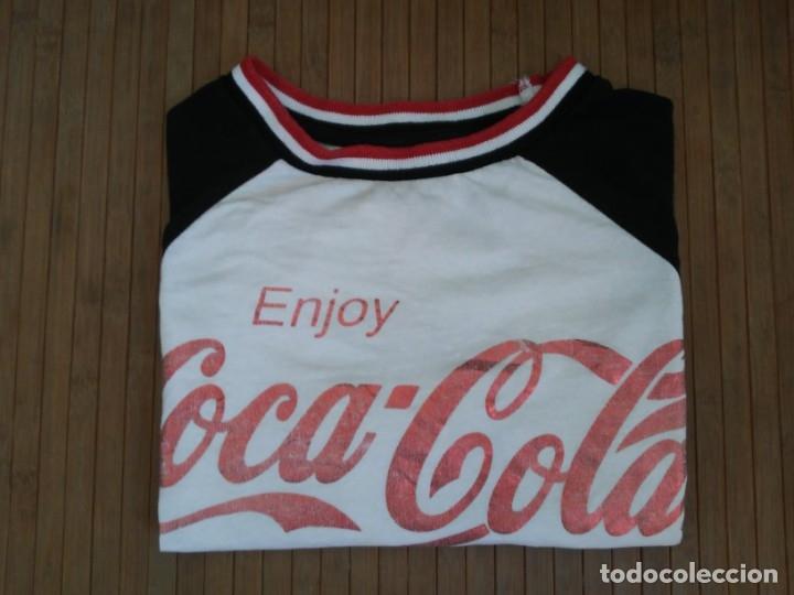 Coleccionismo de Coca-Cola y Pepsi: Camiseta Enjoy Coca Cola Logo brillante Glitter T-Shirt cocacola - Foto 15 - 174402502