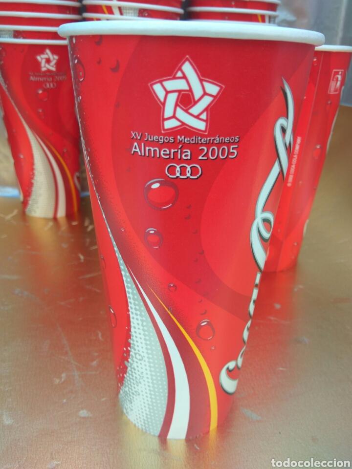 Coleccionismo de Coca-Cola y Pepsi: VASO COCA-COLA ALMERÍA JUEGOS MEDITERRÁNEO 2005. LOTE 50 UNIDADES.NUEVOS - Foto 2 - 174517467