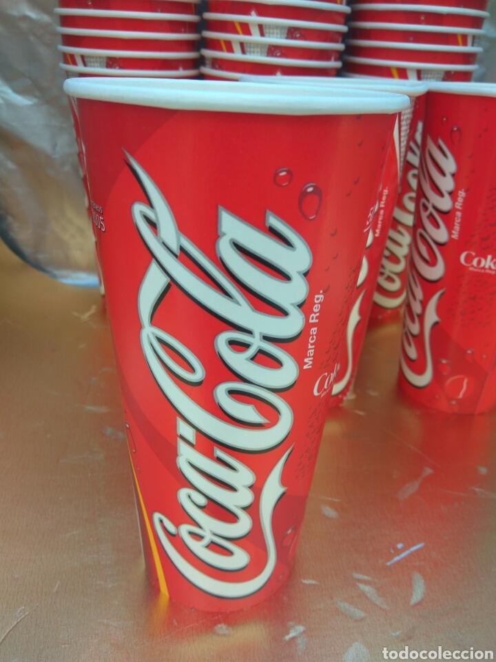 Coleccionismo de Coca-Cola y Pepsi: VASO COCA-COLA ALMERÍA JUEGOS MEDITERRÁNEO 2005. LOTE 50 UNIDADES.NUEVOS - Foto 3 - 174517467
