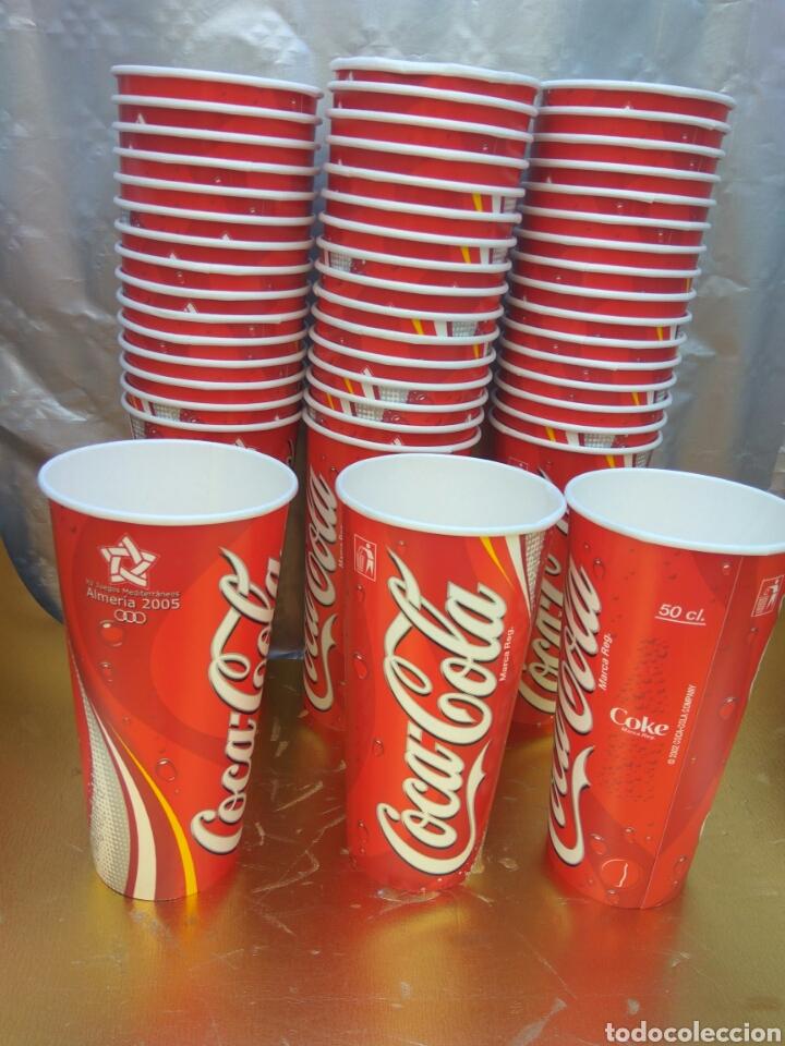 VASO COCA-COLA ALMERÍA JUEGOS MEDITERRÁNEO 2005. LOTE 50 UNIDADES.NUEVOS (Coleccionismo - Botellas y Bebidas - Coca-Cola y Pepsi)