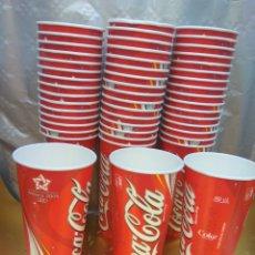 Coleccionismo de Coca-Cola y Pepsi: VASO COCA-COLA ALMERÍA JUEGOS MEDITERRÁNEO 2005. LOTE 50 UNIDADES.NUEVOS. Lote 174517467
