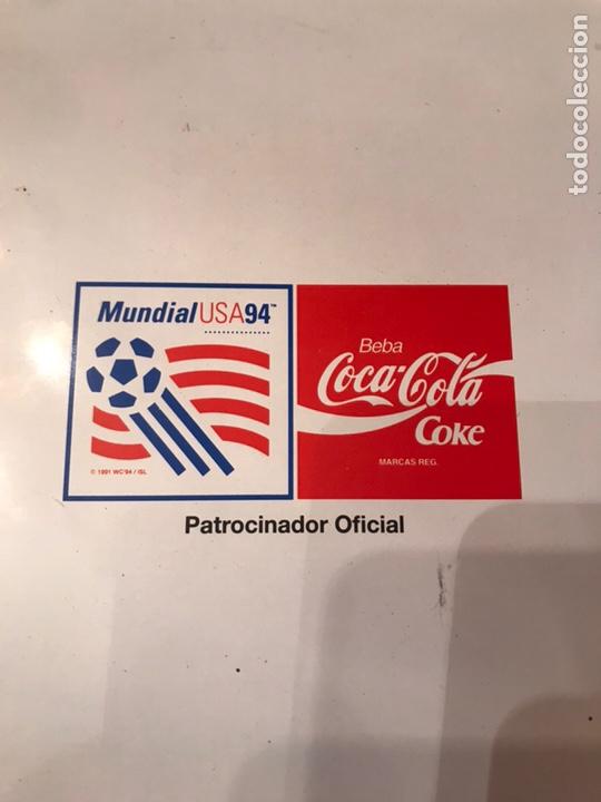 Coleccionismo de Coca-Cola y Pepsi: Bandejas Coca Cola Mundial USA 94 publicidad metálicas - Foto 3 - 175641598