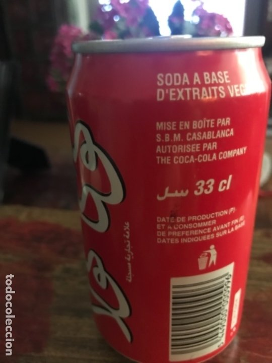 Coleccionismo de Coca-Cola y Pepsi: Lata Coca-Cola de Casablanca (Marruecos). Árabe. Sin abrir. Año 1998 33 cl - Foto 3 - 175821055