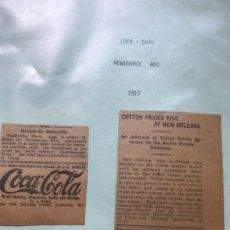 Coleccionismo de Coca-Cola y Pepsi: LOTE 13 ANUNCIOS COCA-COLA ANTIGUOS. USA. DEL AÑO 1916 AL 1922. COURIER JOURNAL DE LOUISIVILLE.. Lote 175927884