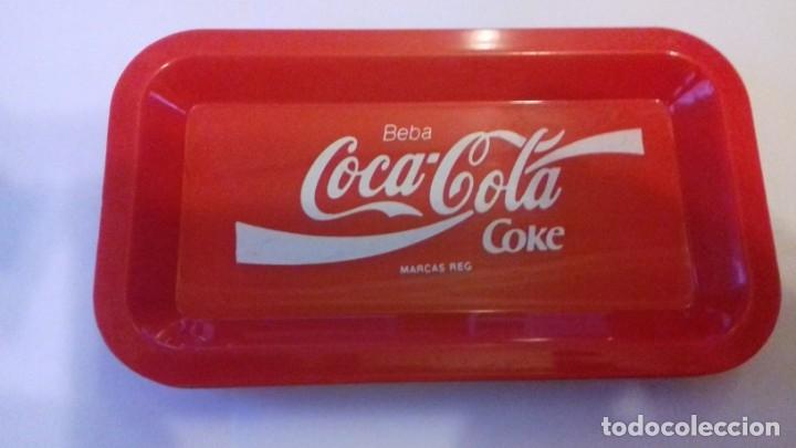 Coleccionismo de Coca-Cola y Pepsi: Lote de bandejitas para aperitivos de Coca-Cola - Foto 2 - 176780980