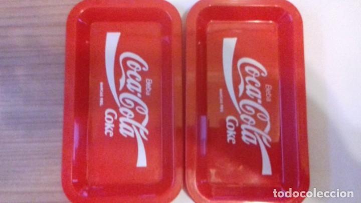 Coleccionismo de Coca-Cola y Pepsi: Lote de bandejitas para aperitivos de Coca-Cola - Foto 7 - 176780980