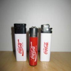 Coleccionismo de Coca-Cola y Pepsi: LOTE 3 MECHEROS COCACOLA 1 CLIPPER COCA COLA. Lote 177198642