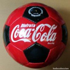 Coleccionismo de Coca-Cola y Pepsi: BALÓN DE FUTBOL PUBLICIDAD CON PROPAGANDA COCA-COLA COCACOLA NUEVO . Lote 177215084