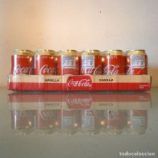 Coleccionismo de Coca-Cola y Pepsi: COCA-COLA VAINILLA - 2 X PACK 24 LATAS (48 LATAS). Lote 177645983