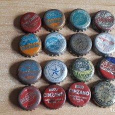 Coleccionismo de Coca-Cola y Pepsi: LOTE 16 CHAPAS REFRESCOS - BEBIDAS - CINZANO - PEPSI COLA - FANTA - ETC -- VER FOTOS ADICIONALES. Lote 178275981
