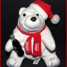 Coleccionismo de Coca-Cola y Pepsi: PUBLICIDAD COCA-COLA PELUCHE OSO POLAR NAVIDAD CON BOTELLA 18 CM. Lote 178585776