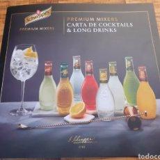 Coleccionismo de Coca-Cola y Pepsi: SCHWEPPES- CARTA DE COCKTAILS & LONG DRINKS. Lote 178847625