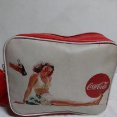 Coleccionismo de Coca-Cola y Pepsi: ANTIGUO BOLSO MOCHILA DE PROPAGANDA COCA-COLA. Lote 180500981