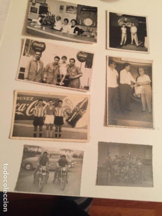 LOTE FOTOGRAFIAS COCA COLA , AÑOS 50-60 (Coleccionismo - Botellas y Bebidas - Coca-Cola y Pepsi)