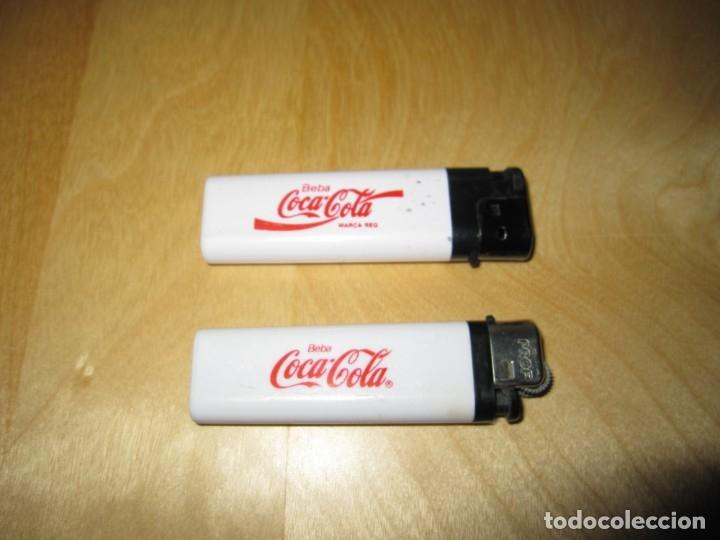 Lote 2 mecheros Cocacola Coca Cola segunda mano