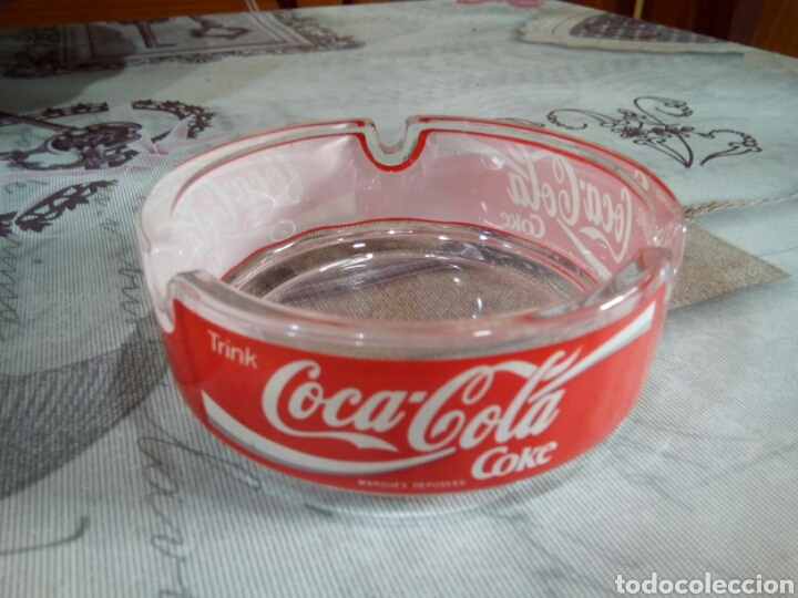 Coleccionismo de Coca-Cola y Pepsi: CENICERO CRISTAL COCA COLA - Foto 2 - 181585431