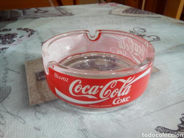 CENICERO CRISTAL COCA COLA (Coleccionismo - Botellas y Bebidas - Coca-Cola y Pepsi)