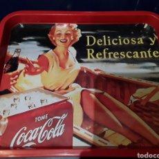 Coleccionismo de Coca-Cola y Pepsi: BANDEJA DE HOJALATA DE COCACOLA VINTAGE. Lote 181886362