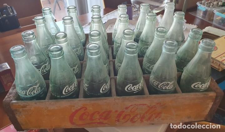 CAJA DE MADERA COCA COLA CON 24 BOTELLAS (Coleccionismo - Botellas y Bebidas - Coca-Cola y Pepsi)