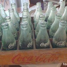 Coleccionismo de Coca-Cola y Pepsi: CAJA DE MADERA COCA COLA CON 24 BOTELLAS. Lote 182372548