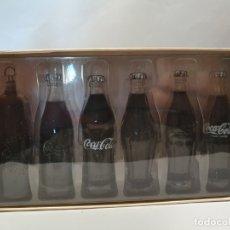 Coleccionismo de Coca-Cola y Pepsi: MINIATURAS EVOLUCION BOTELLAS COCA COLA. Lote 182373772